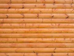 house log wall - stock photo