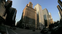 P.O.V. driving around the city Chicago, USA  - stock footage