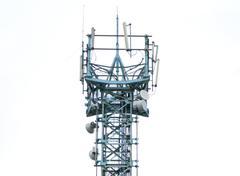 communications antenna tower - stock photo