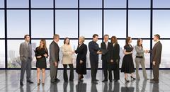 business meet and greet - stock photo