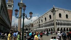 St.Marks  Square in Venice Stock Footage