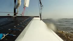 Catemaran sailing Stock Footage