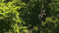 amputee on a zip line - stock footage