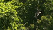 Stock Video Footage of amputee on a zip line