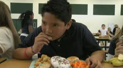 Junk food at school Stock Footage