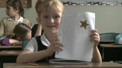 Student gets a star Stock Footage