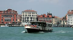 Vaporetto Ferry in Venice Stock Footage