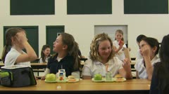 School lunch Stock Footage