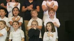 Choir of school children Stock Footage