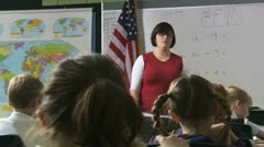 Teacher at the head of her class Stock Footage