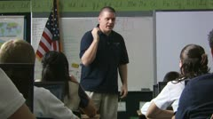 Teacher at the head of his class Stock Footage