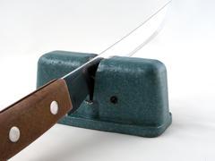 Steel knife sharpener Stock Photos