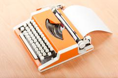 typescript typing typewriter - stock photo