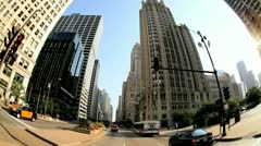 P.O.V. driving city Chicago, USA - stock footage