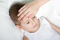 child fever - stock photo