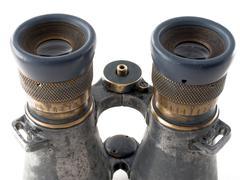 binoculars lens - stock photo