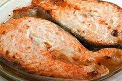 salmon fish - stock photo