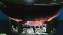 Gas cooker Stock Footage