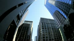 P.O.V. Elevated View Driving Downtown Chicago, USA Stock Footage