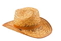 Stock Photo of isolated image of a yellow straw hat man