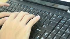 type on laptop - stock footage