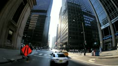 P.O.V. driving in the city of Chicago, USA, T/lapse Stock Footage