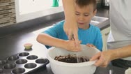 Baking Together Stock Footage