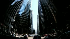 P.O.V. Driving Traffic Intersection, Chicago, USA Time Lapse Stock Footage