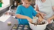 Boy baking Stock Footage