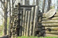 Element wooden wall Stock Photos