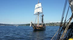The Hawaiian Chieftain sails by Stock Footage