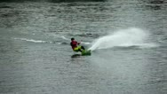 Stock Video Footage of Wakeboard Jumps