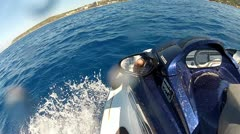 Jet ski side view - stock footage