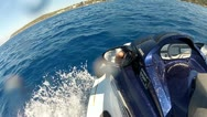 Jet ski side view Stock Footage