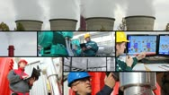 Stock Video Footage of Power and Heating Plant multiscreen