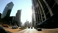 P.O.V. Driving in the City of Chicago, USA Stock Footage