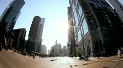 P.O.V. Driving in the City of Chicago, USA - stock footage