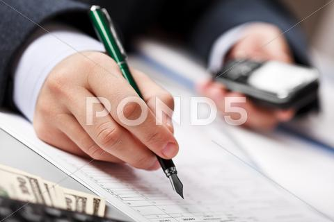 Stock photo of businessman working