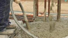 Concrete pouring - stock footage