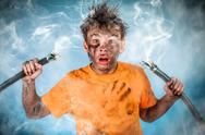 Stock Photo of electric shock