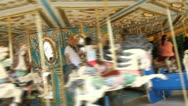 Time lapse of merry-go-round Stock Footage