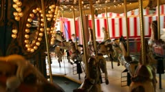 POV shot of Merry-Go-Round ( time lapse ) Stock Footage