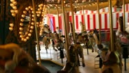 Stock Video Footage of POV shot of Merry-Go-Round ( time lapse )