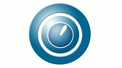 Icon of clock. hand quickly turns the minutes and hours. Stock Footage