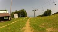 Downhill Mountain Bike Race Track 2 Stock Footage