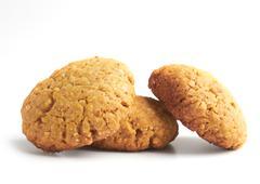 oat cookies - stock photo