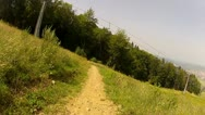 Downhill Mountain Bike Race Track 3 Stock Footage