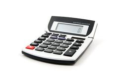 white calculator - stock photo