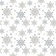 Seamless snowflakes Stock Photos