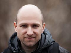 Bald man portrait Stock Photos